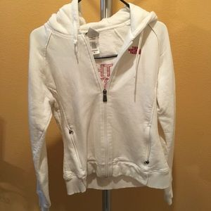 The North Face Sweaters - The North face hoodie white and red size m